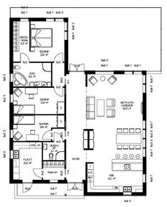 Small House Plans, House Floor Plans, House Extensions, House Layouts, Future House, Interior Inspiration, Home And Garden, Cottage, House Design