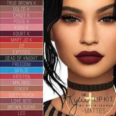 Simpliciaty: Kylie Cosmetics Lip Kit – Ultimate Collection • Sims 4 Downloads