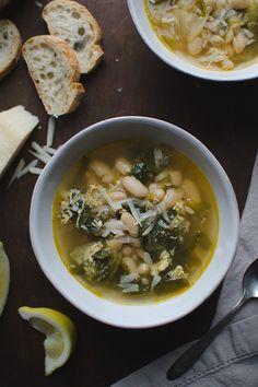 escarole and cannellini bean soup in parmesan broth escarole and ...