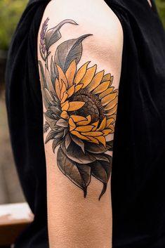 Sophia Baughan flower tattoo