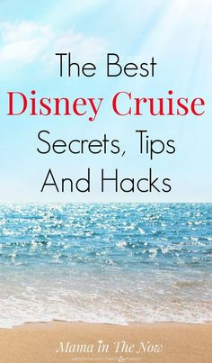The Best Disney Cruise Secrets, Tips and Hacks Disney family cruise traveling tips, hacks and secrets from a veteran Disney travel agent. Make the most of your Disney experience - your kids will thank you! Best Cruise, Cruise Tips, Cruise Travel, Cruise Vacation, Disney Vacations, Vacation Ideas, Family Vacations, Family Trips, Disneyland Cruise