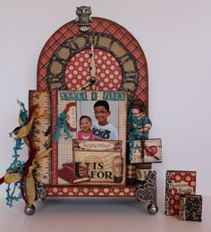 This is an absolutely wonderful altered clock and book using An ABC Primer by @Pam Bray! Beautiful! #graphic45
