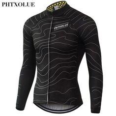 Phtxolue camisetas de ciclismo ropa de manga larga hombres de secado rápido  de primavera en bicicleta 994b4f45d2310