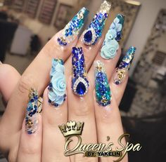 I Blue Nails By : Yakelina Pinterest : Hair,Nails, And Style