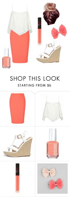 """Summer night out"" by millie-simpson on Polyvore featuring Elizabeth and James, Wild Diva, Essie, NARS Cosmetics and Full Tilt"