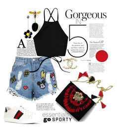 """Go Sporty Saturdays"" by jalouze ❤ liked on Polyvore featuring Gucci and Whiteley"