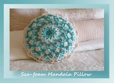 Sea-Foam Mandala Pillow CAL part 3, free crochet pattern by Crochet Memories Blog
