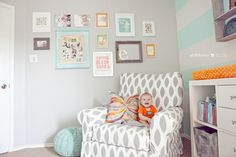 Photo wall, colors, everything for this nursery. styleberry_project 52_31_for web