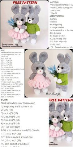 Amigurumi Velvet Bunny Crochet kostenlose Anleitung - Crochet msa plus a class pintag href explore Crochet Bunny Pattern, Crochet Patterns Amigurumi, Amigurumi Doll, Crochet Dolls, Free Crochet, Crochet Rabbit, Crochet Gratis, Easy Knitting Projects, Hand Knitted Sweaters