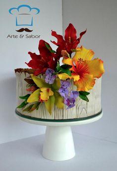 De Mil Colores - Cake by arteysabor