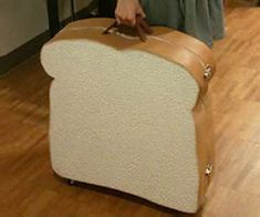 Sandwich Suitcase Concept. You would always be able to tell which luggage was yours at the airport!
