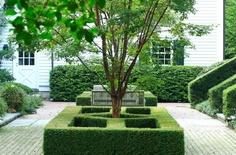 Courtyard elegance//Neil Landino Photography Outdoor Rooms, Outdoor Gardens, Garden Hedges, Growing Flowers, Garden Ideas, Sidewalk, Inspire, Space, Elegant