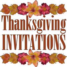 thanksgiving invitation templates free word