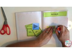 Video of a multiplication interactive notebook in action.