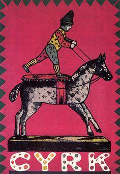 Circus, Clown on Horse Cyrk, Klown na koniu Cieslewicz Roman Polish Poster Circus Poster, Circus Art, Retro Poster, Vintage Posters, Circus Clown, Circus Illustration, Character Illustration, Graphic Design Illustration, Polish Posters