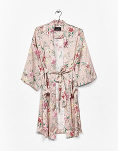 Floral print kimono. Discover this and many more items in Bershka with new products every week