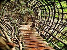 """Josep Pujilula's LABYRINTH an art environment alongside the Fluvia, river in Catalonia, Spain.Begun in """"After creating his initial… Places To Travel, Places To See, Land Art, Magic Places, Secret Places, To Infinity And Beyond, Spain Travel, Amazing Destinations, Amazing Architecture"""