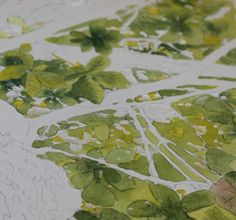 Leaves Lace : Painting a tree and leaves with watercolor, a step by step tutorial by Sandrine Pelissie