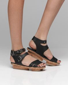 Cork platform sandals-yes!