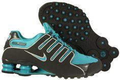Nike Women's Shox NZ - Dark Grey / Turquoise Blue-Pure Platinum, 8.5 B US Nike www.amazon.com/...