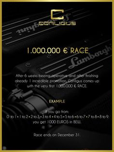 1 Million Conligus Race https://conligusGlobal.conligus.org/