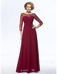 Mama mireasa rochie Teacă / Coloană - Bateau - Lungime până ... – USD $ 179.99