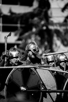 Sons of Fenrir, who are a viking war band performing live steel combat.