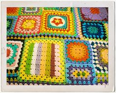 Joining granny squares of different sizes  #crochet #technique #granny_square