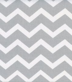 Keepsake Calico Fabric-Gray & White Chevron