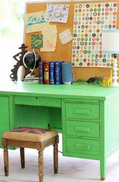 vintage green desk cute yard sale finds repurpose u0026 renew pinterest green desk yard sale finds and yard sale