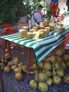 Fresh coconuts while you shop.
