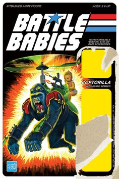 Battle Babies' Coptorilla - A Tribute to Vintage G.I. Joe Card Art - By Justin Gammon