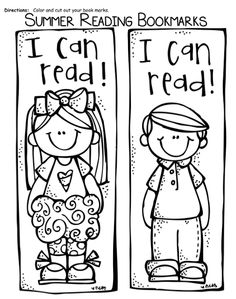 Summer Reading Bookmarks to Color | Summer reading program and ...
