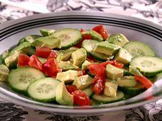 Cucumber-Tomato-Avocado Salad with Tequila-Lime Vinaigrette Recipe : Sandra Lee : Food Network - FoodNetwork.com