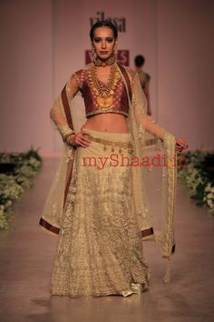Rocky S Indian Bridal Wear Designer...Wow beautiful. For the modern bridal with an edge. Imagine this in bridal tones & embellishments. Work with a seamstress to achieve this look for that ultimate bridal look.