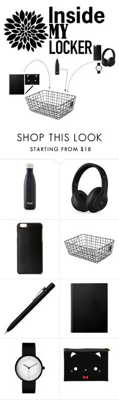 """Locker Aesthetic 2"" by cas1967 ❤ liked on Polyvore featuring interior, interiors, interior design, home, home decor, interior decorating, S'well, Beats by Dr. Dre, Knomo and Threshold"