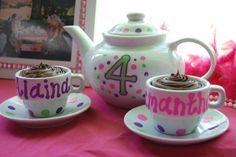Personalized Tea Cup and Saucer - Use has a Favor for the Guest.