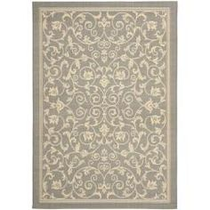 An indoor/outdoor rug under a heavy bed on top of carpet didn't work out so good last time. So unsure. But only $82. Geometric Gray/ Natural Indoor/ Outdoor Rug (5'3 x 7'7) | Overstock.com Shopping - Great Deals on Safavieh 5x8 - 6x9 Rugs