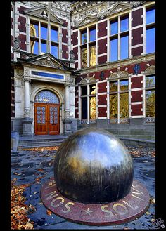 The Steel Ball. at Utrecht University entrance! Amsterdam, Dutch People, Solis, Water Tower, Amazing Pics, Utrecht, Delft, Summer Travel, Study Abroad