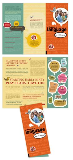 Child development school tri fold brochure template brochure child language learning center tri fold brochure template maxwellsz