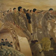 The Bridge 1920 Stanley Spencer Stanley Spencer, Harlem Renaissance, Lucian Freud, Dame Mary, English Artists, British Artists, Tate Gallery, Religious Paintings, Abstract Drawings