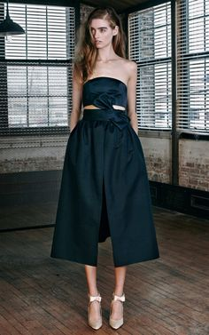 Wrapped Bow Overskirt by Katie Ermilio for Preorder on Moda Operandi