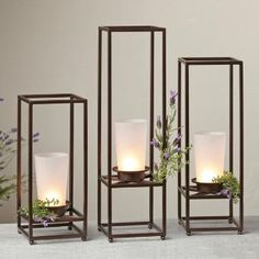 Perfect for a wedding or entertaining! These framework candle holders are beautiful! Pillar Candle Holders, Pillar Candles, Candle Jars, Bathroom Candles, Bronze Bathroom, Bougie Candle, House Smell Good, Candles Online, Tea Lights
