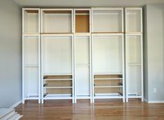 DIY BUILT-IN BOOKCASE REVEAL (AN IKEA HACK) – Studio 36 Interiors Hemnes Bookcase, Ikea Billy Bookcase Hack, Built In Bookcase, Bookshelves, Ikea Hacks, Ikea Hack Kids, Hacks Diy, Cool Kids Bedrooms, Trendy Bedroom