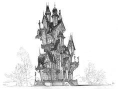 Castles / #drawing #studies / Sony Pictures / LUC DESMARCHELIER