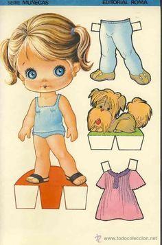 Betty e Susan Barbie Paper Dolls, Vintage Paper Dolls, Bjd Dolls, Doll Toys, Cardboard Paper, Paper Toys, Paper Art, Paper Crafts, Dora