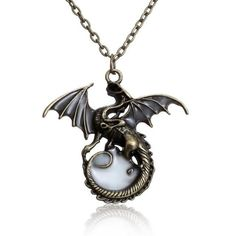 Game of Throne dragon necklace pendant amulet Sweater Chain Gift Punk Luminous Dragon Pendants & Necklaces GLOW in the DARK Fashion Jewelry Necklaces, Silver Necklaces, Fashion Necklace, Jewelry Gifts, Men's Jewelry, Jewlery, Dragon Necklace, Dragon Jewelry, Bday Gift For Boyfriend