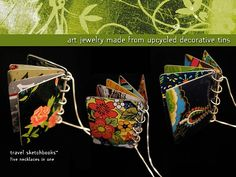 Christine Terrell, local Austin artist - Adaptive Reuse upcycled jewelry from sustainably harvested tins