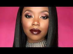 Herbst Vampy Make-up Tutorial für dunkle Haut - Makeup Tutorial Over 40 Dark Skin Makeup, Blue Eye Makeup, How To Make Brown, Make Up, Beauty Makeup Photography, Fall Makeup Looks, Makeup Tutorials Youtube, Hair Color Dark, Bridal Makeup