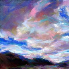 PINK FLASH - 4 1/2 x 4 1/2 pastel by Susan E. Roden, painting by artist Susan Roden